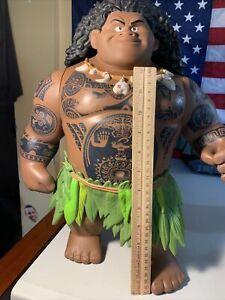 """Disney Moana Movie 16"""" Mega Maui Talking Singing Doll Action Figure Toy"""
