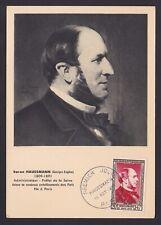 France 1952 stamp HAUSSMANN Yvert# 934 on FDC Maximum card.................X1141