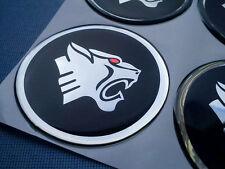 (P60BSHR) 4x Pantera Embleme für Nabenkappen Felgendeckel 60mm Silikon Aufkleber