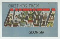 [72938] OLD LARGE LETTER POSTCARD GREETINGS from AUGUSTA, GEORGIA