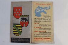 28276 SHELL Straßenkarte Nr. 12 Sachsen Mitteldeutschland Thüringen Sachsen 1930