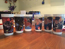 Lot of 6 Batman Forever Plastic McDonalds Cups