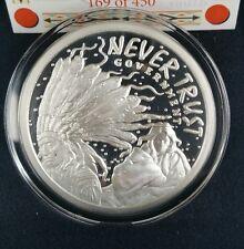 1 oz .999 Silver No Thanks Never Trust Government Crazy Horse Sioux Navajo Rare