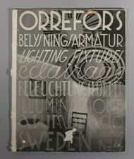 More details for very rare orrefors no 4 belysningsarmatur lighting fixtures catalogue 1934