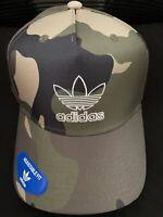 NWT Adidas Originals Men's Camouflage Snapback Pre Curved Cap Baseball Hat RARE