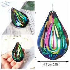 Rainbow Crystal Suncatcher Chandelier Lamp Prism Hanging Pendant Home Decor 73mm