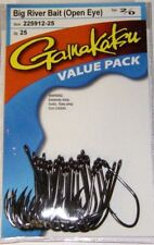 Gamakatsu Big River Bait NSB (Open Eye) Hooks Value Pack 225912-25 25 pk sz 2/0