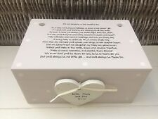 Shabby Personalised Chic Daughter On Her Wedding Day EXTRA LARGE Gift Memory Box