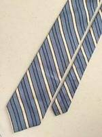 """346""  BROOKS BROTHERS   Blue White Navy Striped Silk Tie USA   59"" x 3½"""
