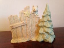 """Lucie Atwell Christmas Kitten by Tree, 1994, 5-1/2"""" x 4-1/2""""b #602949"""