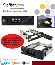 StarTech 3.5 Inch Trayless Hot Swap SATA Mobile Rack W/ 5.5 Inch Bay HSB100SATBK