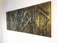 Peinture acrylique tableau moderne contemporain avec texture format 30/70 cm