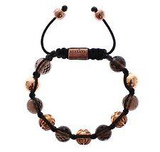 Gold Plated 925 Silver Bracelet s. S Nwt $600 Nialaya Women's Smoky Quartz 18K