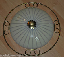 60er ORIGINALE Plafonnier Design Il plafond VERRE LAITON LAMPE 60er
