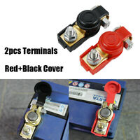 2 Pairs Cover for Top Post Battery + VinTeam Quick Release Battery Terminal Connectors Quick Disconnect Terminals Brass Battery Terminal Clamps with Red and Blue -