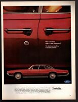 Original 1967 Vintage Print Ad Ford 4 Door Thunderbird Advertisement