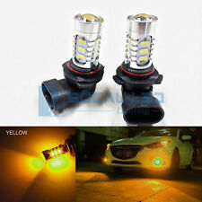 2x Warm Yellow HB4 9006 LED Fog Light Bulbs 15W SMD 5730 High Bright Daytime DRL