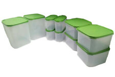 Tupperware Modular Mates Oval II Square II,IV Green Lids 10X Container Airtight