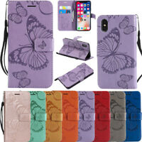 3D Butterfly Embossed Magnetic Flip Leather Wallet Stand Case Cover For Samsung2