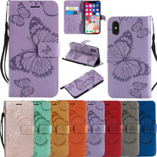3D Butterfly Embossed Magnetic Flip Leather Wallet Stand Case Cover For LG MOTO
