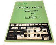 Wurlitzer 4473 Organ/ Orbit iii Synthesizer Manual
