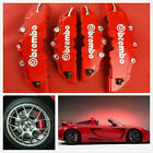 4pcs Front Rear Universal Red 3d Style Car Disc Brake Caliper Covers