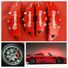 4pcs Front & Rear Red 3D Brembo Style Car Disc Brake Caliper Covers Universal (Fits: Hyundai Accent)