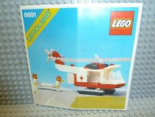 LEGO® Town Classic Bauanleitung 6691 Rettungshelikopter BA ungelocht Anleitung