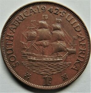 1942 SOUTH AFRICA, GEORGE VI,  Penny grading VERY FINE.