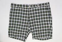 "Polo Ralph Lauren Mens Shorts 40 (42"") Blue Green White Plaid GI Slim Fit Cotton"
