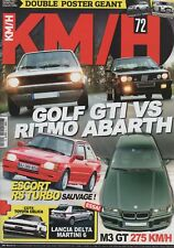 KM/H 72 GOLF GTI 1800 MKI RITMO ABARTH 130 TC BMW M3 GT E36 MERCEDES E500 W124