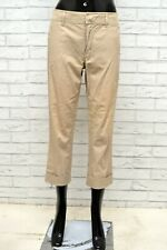 Pantalone Donna MAX MARA Taglia Size 42 Jeans Pants Woman Regular Corto Beige