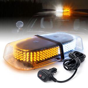 Xprite 240 LED Yellow White Strobe Light Bar Rooftop Flashing Emergency Warning