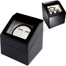 DELUXE Time Tutelary Dual Black Watch Winder KA007 For Two Automatic Watches