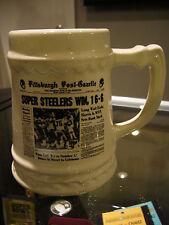 Pittsburgh Steelers Vikings Super Bowl Steelers Win Post Gazette Mug Cup