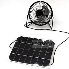 solar fan 5w  Powerd Ventilator USB Solar Cell Travel Cooling Cool Fan