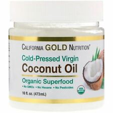 California Gold Nutrition, Cold-Pressed Organic Virgin Coconut Oil, 16 fl oz (47