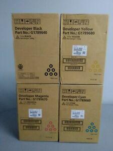 Ricoh Lot of 4 Developer G1789640 G1789670 G1789660 G1789680 Pro C720S Sealed
