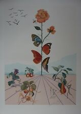 """SALVADOR DALI : """"Flordali II"""" LITHOGRAPHIE SIGNEE ET N° FIELD 233 #1981 #ARCHES"""