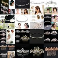 Bridal Wedding Crystal Hair Comb Diamante Slides Hair Clip Hairpins Fashion