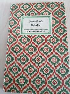 IB Insel-Bücherei  Nr.75 Gedichte von Mörike