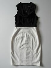 NWT White House Black Market Black & Ivory Colorblock Cowl Neck Sheath Dress 2