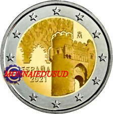 2 Euro Commémorative Espagne 2021 - Vieille Ville de Tolède UNC NEUVE
