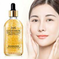 24k Gold Facial Skin Care Anti wrinkle Anti-Aging Face Essence Serum Cream CA