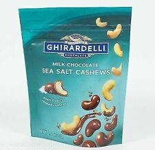 1 Ghirardelli Milk Chocolate Covered Sea Salt Cashew 4.8  oz