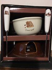 NEW World Market Earthenware Chocolate Fondue Warmer Set - Bia Cordon Bleu Inc.