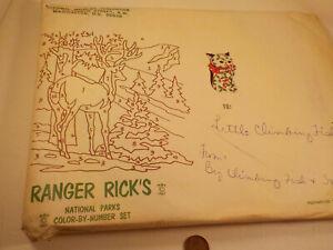 """ORIGINAL 1967-vintage (Nat'l. Wild. Fed.) """"RANGER RICK'S ~ Color By Numbers"""" SET"""