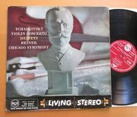 SB-2002 ED1 Living Stereo Tchaikovsky Violin Concerto Heifetz Reiner 1958 RCA VG