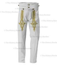 Napoleonic pantaloons - white wool gold embroidery - made to order