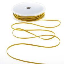 Lederband gelb - 3 mm Breite - 25 m Rolle - 18000-3-10